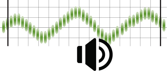 sound wave with speaker